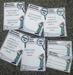 Check out our fun number detective challenges!