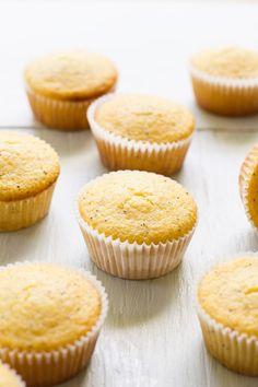 lemon poppy seed cornmeal muffins