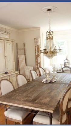 Beautiful shabby chic dining room