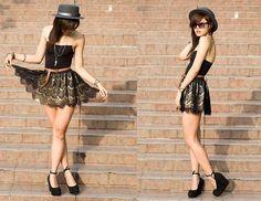 shoe skirt, fashionstreet style