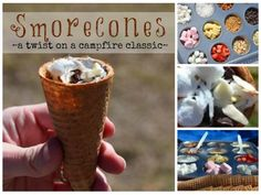 Smorecones - A Twist on a Campfire Classic {from Suitcases & Sippy Cups}