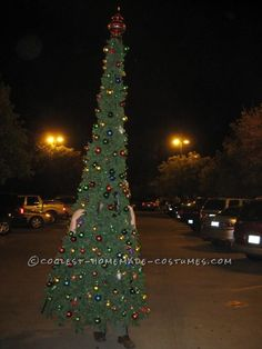 Coolest Homemade Christmas Tree Costume