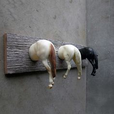 You can lead a horse to water...or nail it to a board and hang something from its ass... (from WTFPinterest.com)