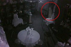 A ghostly apparition was caught on camera at Perth Tearoom in Scotland & was hailed as the best evidence of paranormal activity seen in the last 10 years.