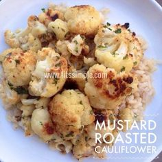 PiYo Meals and Recipes Mustard Roasted Cauliflower is a great way to get in your Primary and Secondary Vegetables as part of the PiYo Meal Plan!