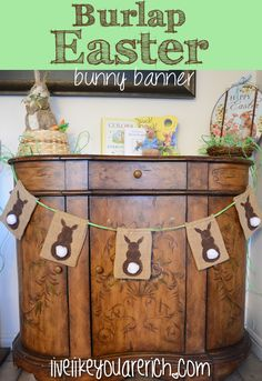 This is a super easy craft...so cute too! bear, super easy crafts, bunni banner