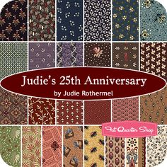 Judie's 25th Anniversary Fat Quarter Bundle Judie Rothermel for Marcus Brothers Fabrics - Fat Quarter Shop. On my wishlist!!...
