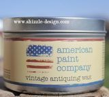 American Paint Company's Clear Vintage Antiquing Wax -  Get all your favorite chalk and clay paint supplies online via our Online Shizzle Shop http://shizzle-design.com/store