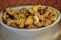 Cauliflower Popcorn.  A seriously addicting snack!  I don't even like cauliflower and I couldn't stop eating it!