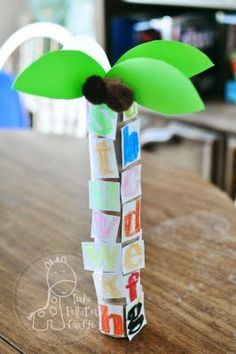 Chicka Chicka Boom Boom Tree- could built with wooden alphabet blocks