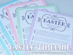 Free Printable... The Week Before Easter - a scriptural account of the events leading up to the Resurrection and Easter Sunday.