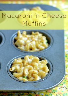 These single-portion macaroni and cheese muffins are a great healthy dinner for evenings on the go.