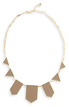 House of Harlow 1960 Leather Station Necklace | Nordstrom