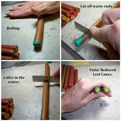 how to make a flower cane polymer clay   How to reduce a polymer clay cane. 6 of 6   Flickr - Photo Sharing!