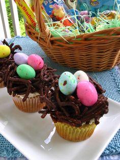Banana Coconut Cream Easter Cupcakes