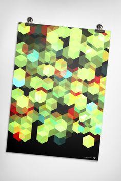 graphic design, poster design, pattern, behance, art, city lights, cuben, print, design posters