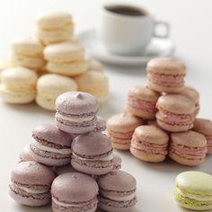 sweet bar, desert, food, white chocolate, french macaroons, cooki, pastel colors, tea, dessert
