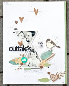 #papercraft #scrapbook #layout. *outtakes* by JanineLanger at @studio_calico