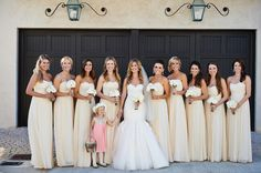long butter yellow bridesmaid dresses | Paul Johnson #wedding