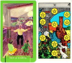 Ten of Earth and Ten of Pentacles www.todaysjourneytarot.com