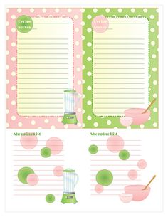 #free oversized printable #recipe cards, including a place to jot down a shopping list