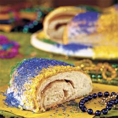 Traditional Mardi Gras dessert - The King Cake