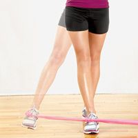 Your achy knees while running may be due to weak hips. Strengthen the hips and running may be enjoyable again.