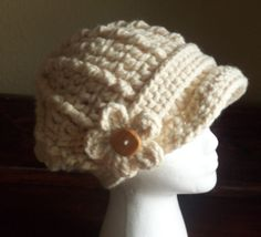 Slouchy Chunky Cabled Crochet Cap with detachable by darcyannie, $28.00