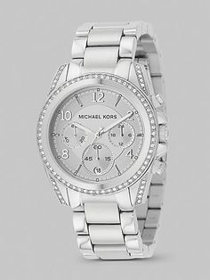 Need this silver MK bracelet watchsilv, bracelets, michael kors, dream watch, steel chronograph, stainless steel, chronograph bracelet