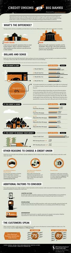 Banks vs Credit Unions | Pros and Cons and Which is Better Infographic