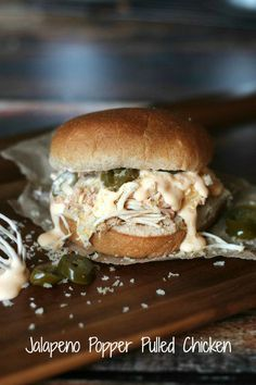 Jalapeno Popper Pulled Chicken Sandwiches
