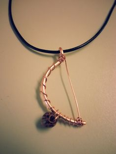 Copper berimbau necklace by hunnieb125 on Etsy, $15.00
