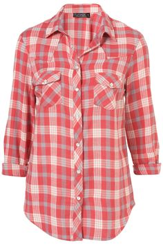LONGSLEEVE CHECK SHIRT    Was$58.00  Now$30.00  Color:RED  Item code:13T03CRED