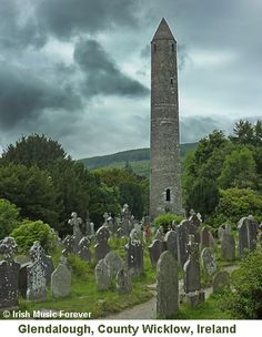Round Tower Glendalough...monks put the door 10 feet high to deter raiders