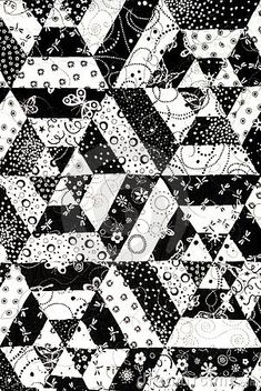 black and white quilt pattern