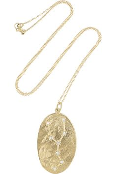 Brooke Gregson|Taurus 14-karat gold diamond necklace|NET-A-PORTER.COM