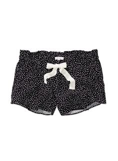 dotted silk shorts