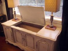 What to do with an old stereo cabinet, from 4theloveofwood.blogspot.com