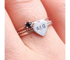 Initials ring. So cute