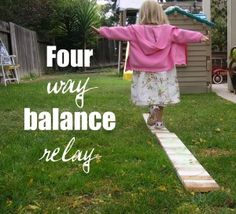 "Practice balance with four fun ""Balance"" Stations."