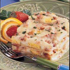 Egg and Bacon Lasagna