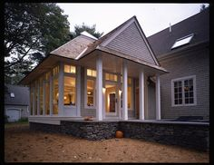 Family room and porch addition - eclectic - exterior - boston - Helios Design Group