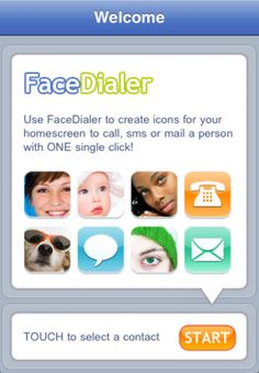 FaceDialer app- lets you create speed dial icons for your homescreen to call, sms, mail your contacts via one single click!