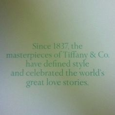 Tiffany and co if my engagement ring is in a little blue box I will be so happy