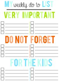 Daily, Weekly, Monthly Printable ToDo Lists  Tryin to make my house a home: GO - Organize your time