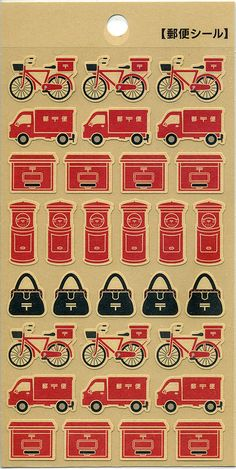 Japanese postal service stickers
