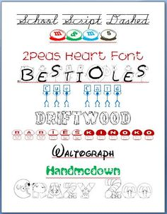 FREE FONTS...Some of My Favorite Fonts for Kids