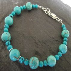 Sterling silver Turquoise Howlite bracelet £14.00 by Sarah Joanne Jewellery