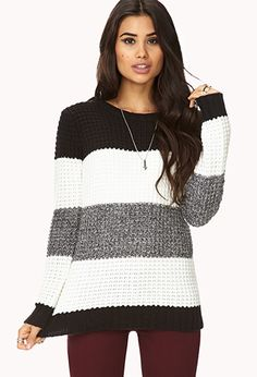 Menswear-Inspired Striped Sweater | FOREVER 21 - 2076522899
