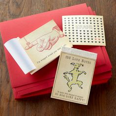 When words fail you, here are 150 love notes to help you say what you want to say. Love this idea! :: found at Sundance